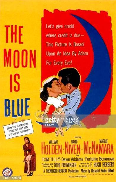 The Moon Is Blue poster Maggie McNamara William Holden poster art 1953