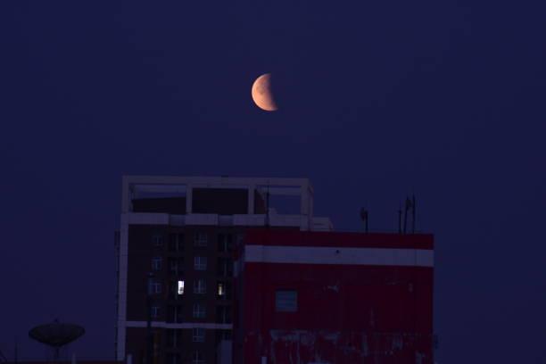 CHN: Partial Lunar Eclipse In China