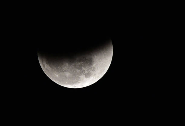 The moon is seen during a lunar eclipse seen on January 31 2018 in Ludhiana India In rare celestial event a supermoon blue moon and Total Lunar...