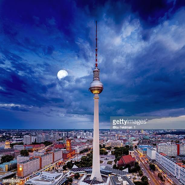The moon over Berlin
