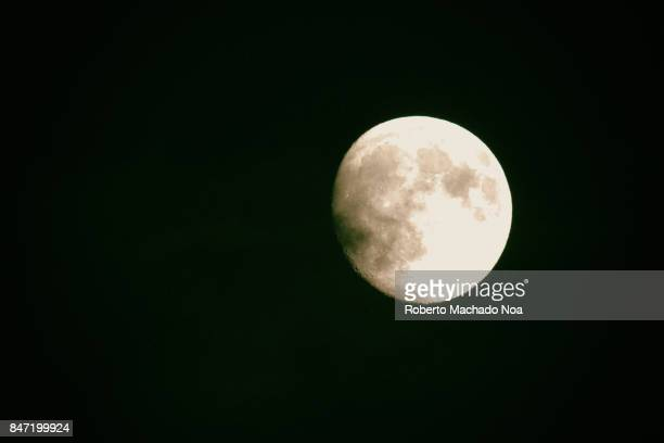 The moon point of view from the ground The moon is planet Earth's only permanent natural satellite