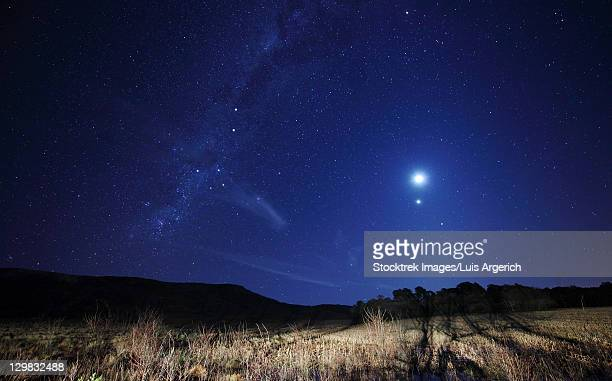 The Moon, Venus, Mars and Spica in a quadruple conjunction in Azul, Argentina.