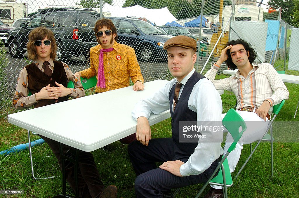 The Mooney Suzuki during Little Steven's Underground Garage Festival Presented by Dunkin' Donuts - Backstage - August 14, 2004 at Randall's Island in New York City, New York, United States.