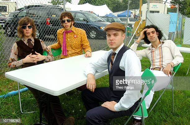 The Mooney Suzuki during Little Steven's Underground Garage Festival Presented by Dunkin' Donuts Backstage August 14 2004 at Randall's Island in New...