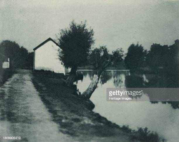 The Moonlit River, 1890-1891, printed 1893. Artist Dr Peter Henry Emerson. .