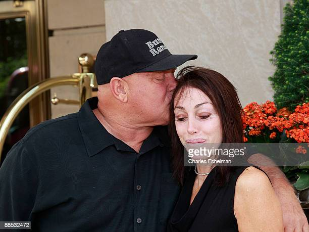The Moonlite Bunny Ranch brothel owner Dennis Hof and Heidi Fleiss appear at the RitzCarlton hotel where Fleiss was scheduled to speak on behalf of...