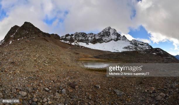 The moraine of the Sforzellina glacier