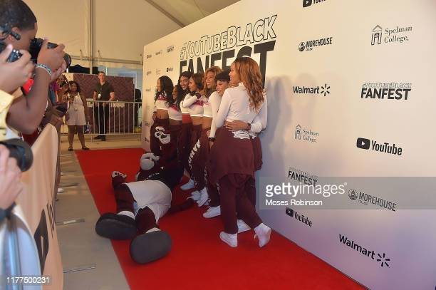 The Morehouse College cheerleaders attend #YouTubeBlackFanFest at Morehouse College on October 21 2019 in Atlanta Georgia