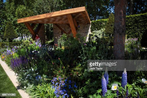 The 'Morgan Stanley Garden' on display at the Chelsea Flower Show on May 22 2017 in London England The prestigious Chelsea Flower Show held annually...
