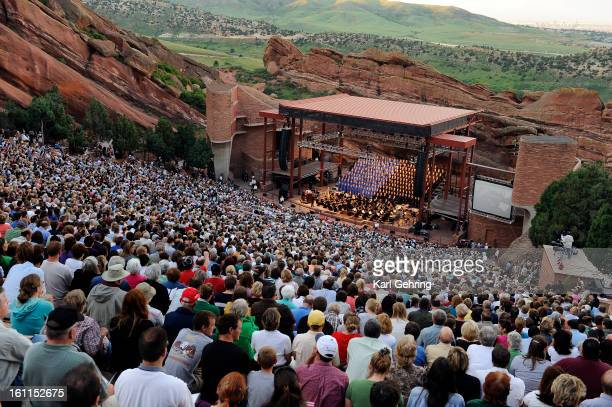 The Mormon Tabernacle Choir performed at Denver's Red Rocks Amphitheatre Monday evening June 29 2009 The worldfamous choir wrapped up a twoweek tour...