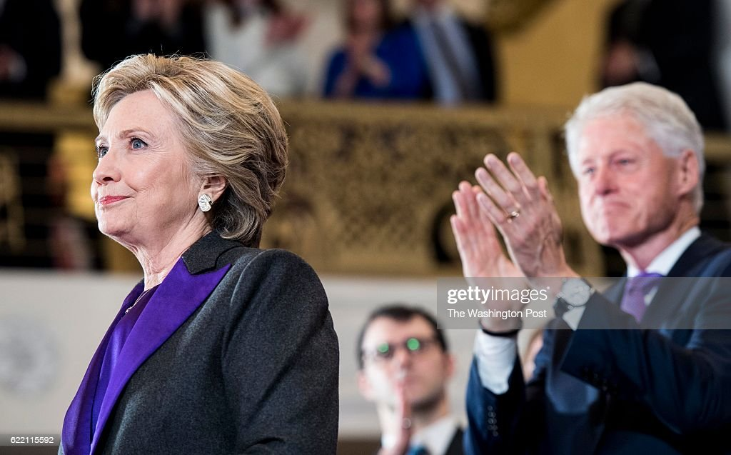 Democratic Nominee for President of the United States former Secretary of State Hillary Clinton : News Photo