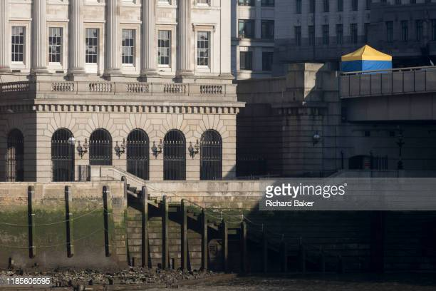 The morning after the terrorist attack at Fishmongers Hall on London Bridge in which Usman Khan killed 2 during a knife a attack then subsequently...