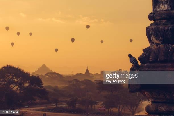 The morning at Bagan the ancient capital of Myanmar.