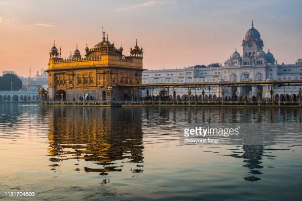 the morning of golden temple of amritsar, india - amritsar stock pictures, royalty-free photos & images