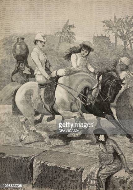 The morning ride AngloIndian life India engraving from The Illustrated London News No 2736 September 26 1891