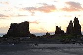 morning sun summer hashikuiiwa rock