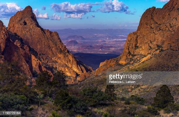 the morning view through the window - chisos mountains stock pictures, royalty-free photos & images