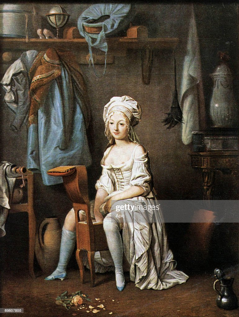 woman on a bidet painting by louis leopold boilly c 1790 photo d 39 actualit getty images. Black Bedroom Furniture Sets. Home Design Ideas