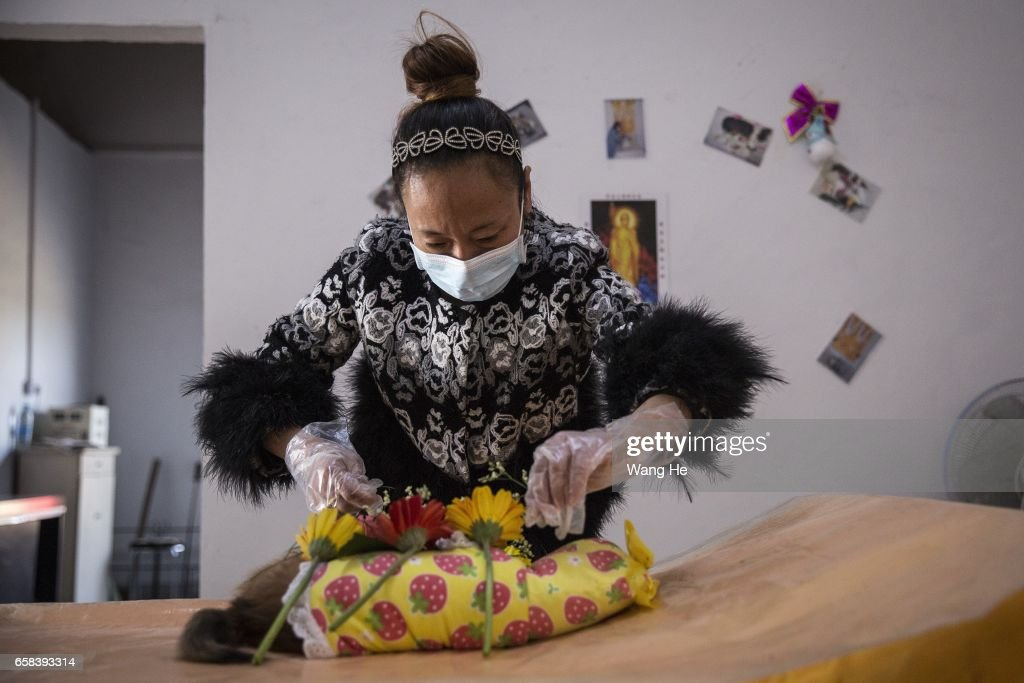 Pet Funeral Service In Central China News Photo