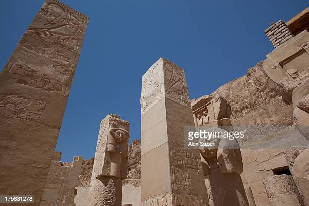the mortuary temple of hatshepsut. - alex saberi stock pictures, royalty-free photos & images