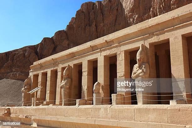 The mortuary temple of the first female Pharaoh Hatshepsut Part of the Hatshepsut temple complex at Deir elBahari on the west bank of the Nile at...