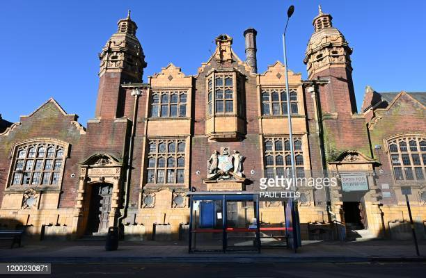 The Moseley Road Baths are pictured in Birmingham, central England, on February 12 during a photocall to unveil the completion of essential repairs...
