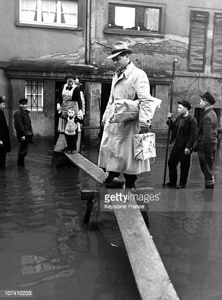 The Moselle River Has Overflowed And Flooded Thie Little German Town During The 1950'S