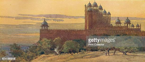 The Mosque and Gate of Victory, Fatehpur Sikri', c1880 . From The High-Road of Empire, by A. H. Hallam Murray. [John Murray, Ablemarle Street,...