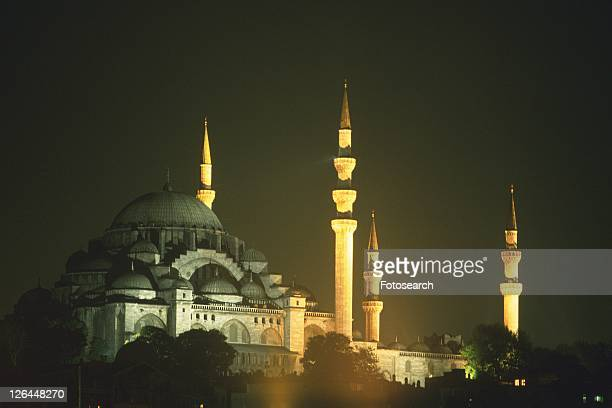 The mosque and minaret, Turkey, Low Angle View
