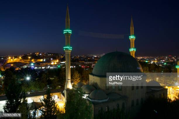 The mosque built upon the place believed by some to be the birth place of Prophet Abraham Sanilurfa Turkey August 2018