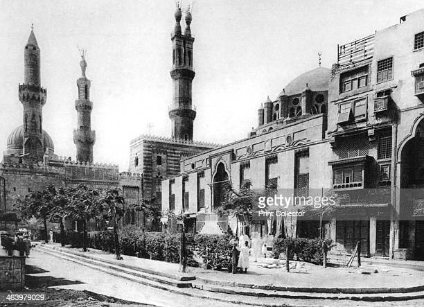 The Mosque of ElArhan Cairo Egypt c1920s Plate taken From In the Land of the Pharaohs published by Lehnert Landrock