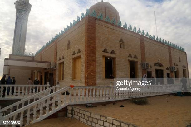 The Mosque where the bombing attack took place and killed at least 305 people injured scores in AlArish Egypt on November 25 2017 At least 305 people...