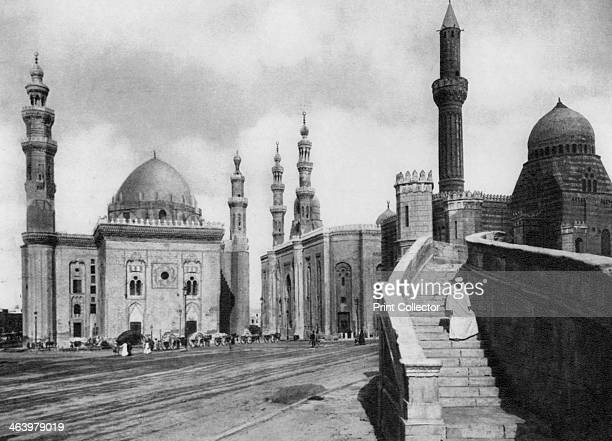 The Mosques of Sultan Hassan and El Rufai Cairo Egypt c1920s Plate taken From In the Land of the Pharaohs published by Lehnert Landrock