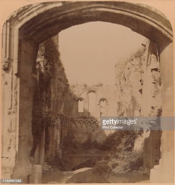 The most ancient religious Ruin in England - St. Joseph's Chapel, Glastonbury Abbey ', 1900. Glastonbury Abbey in Somerset, founded in the 7th...