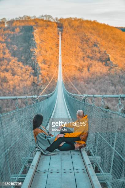 the most beautiful hike i've ever been on - suspension bridge stock pictures, royalty-free photos & images