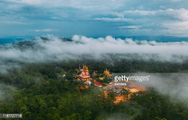 the most beautiful pagoda in forest at kirirom cambodia - phnom penh stock pictures, royalty-free photos & images