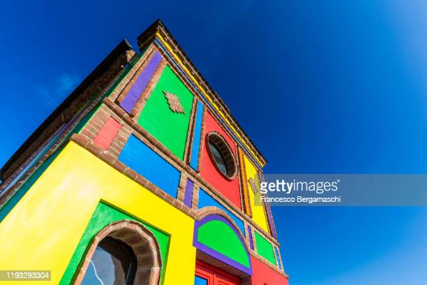 the most colourful church in the world, the chapel of barolo. - italia stockfoto's en -beelden