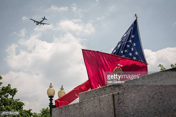 The most diverse array of World War II aircraft ever assemble flyover the National Mall celebrating the 70th anniversary of Victory in Europe Day in...