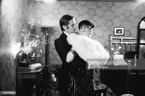 The Most Expensive Couple Of French Movie Business Séance photo réunissant le couple le plus cher du cinéma français Alain DELON au look Borsalino...