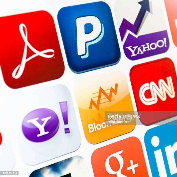 the most famous icon app on itunes webstore - logo design stock photos and pictures