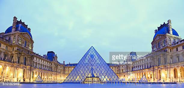 The most popular Paris holiday destination, the Louvre museum with a panoramic view