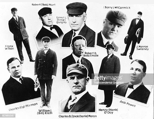 The most prominent major league umpires appear in this collage from about 1920 Standing at the top left is Frank Wislon standing top right is J...