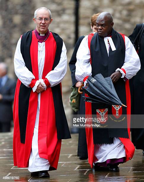 The Most Reverend Justin Welby Archbishop of Canterbury and The Most Reverend Dr John Sentamu Archbishop of York attend the Inauguration of the Tenth...