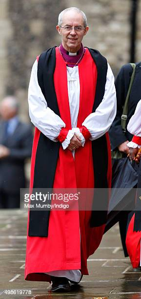 The Most Reverend Justin Welby Archbishop of Canterbury attends the Inauguration of the Tenth General Synod of the Church of England at Church House...