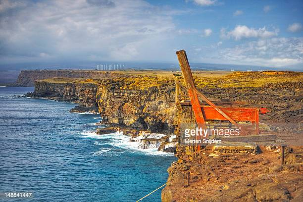 the most southerly point of the usa and the big island. - merten snijders imagens e fotografias de stock
