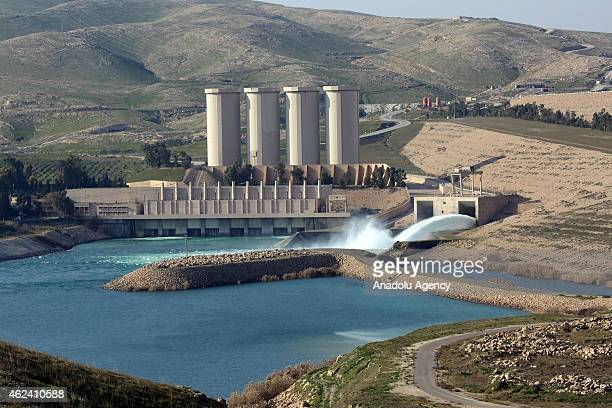 The Mosul Dam seized by Kurdish Peshmerga forces is seen in Mosul on January 28 2015