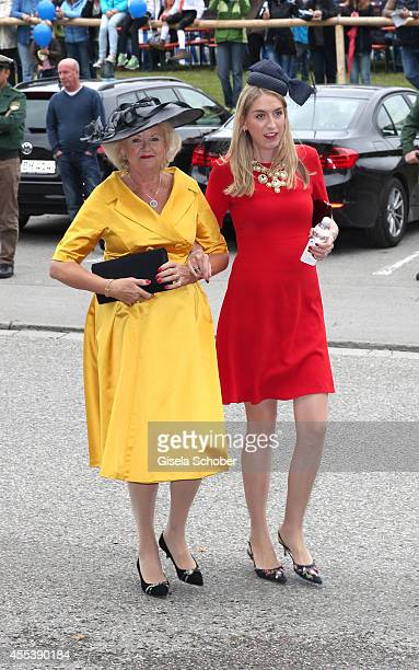 The mother Diana Wilson and sister Diana Wilson of groom Hugo Wilson attend the wedding of Maria Theresia Princess von Thurn und Taxis and Hugo...
