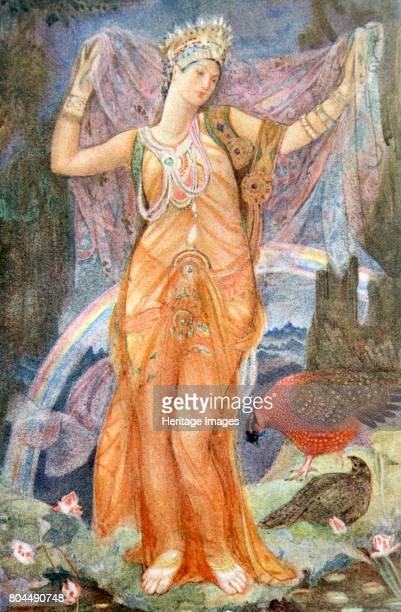 The Mother Goddess Ishtar' 1916 Ishtar was the Assyrian and Babylonian goddess of fertility love and war Illustration from Myths and Legends of...