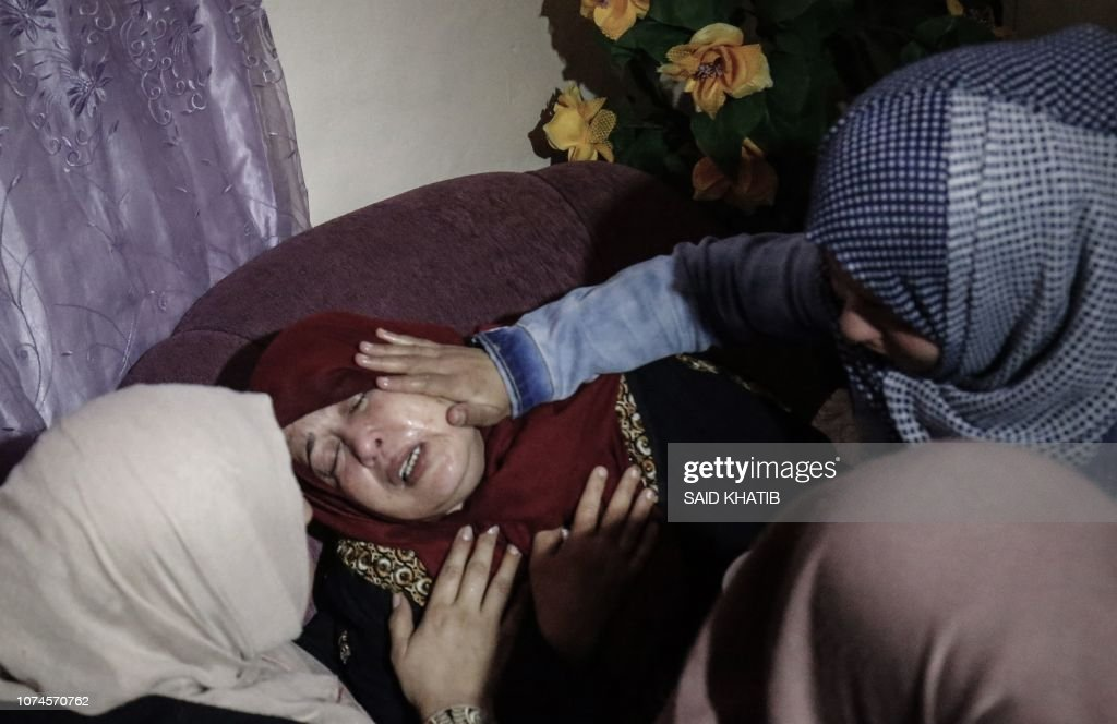 The mother of 16-year-old Palestinian Mohamed al-Jahjuh is