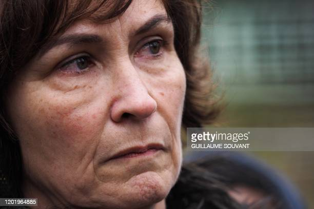The mother of Corporal Arthur Noyer killed by Nordhal Lelandais on the night of April 11 to 12 Cecile Noyer speaks during a press conference on...